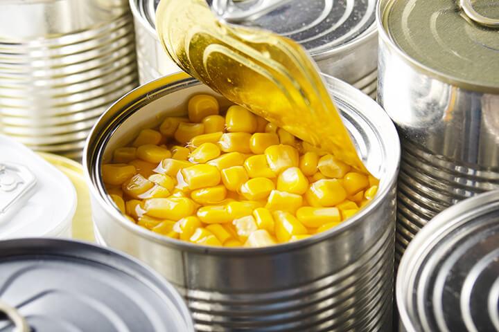 open canned corn